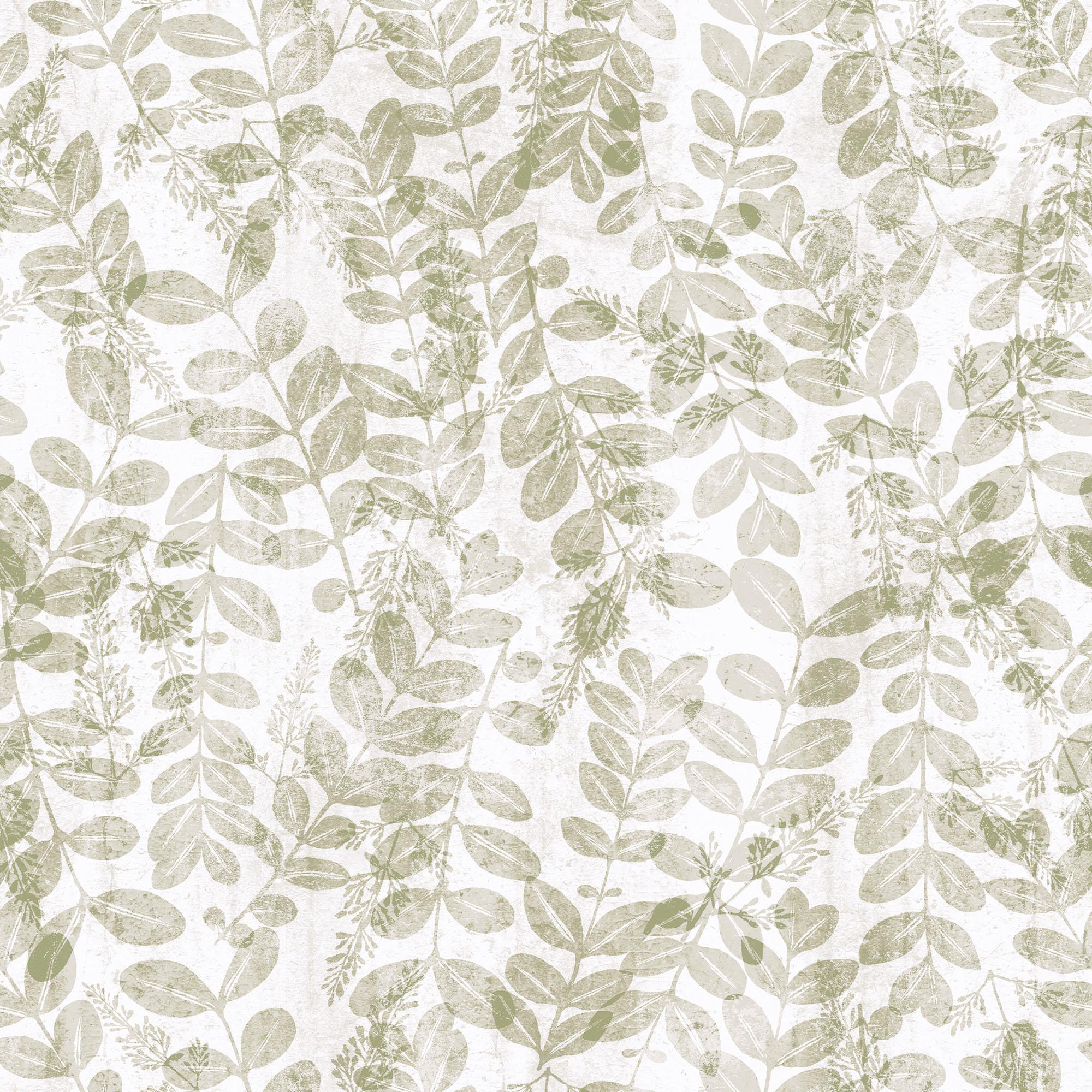 Papel mural vinilizado zen hojas beige 3711 1 cinthiasa for Colocar papel mural