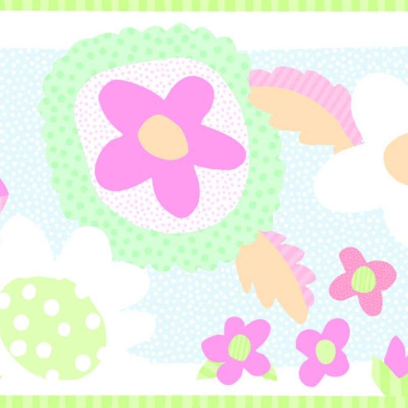 Guarda de papel infantil flores 8750-1 Muresco