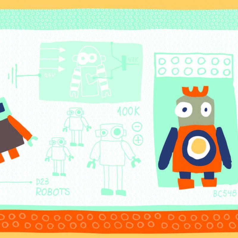 Guarda de papel infantil robot 8754-1 Muresco