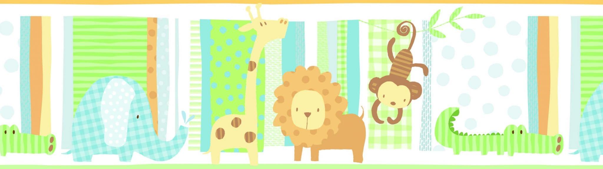 Guarda de papel infantil Animales 8755-1 Muresco