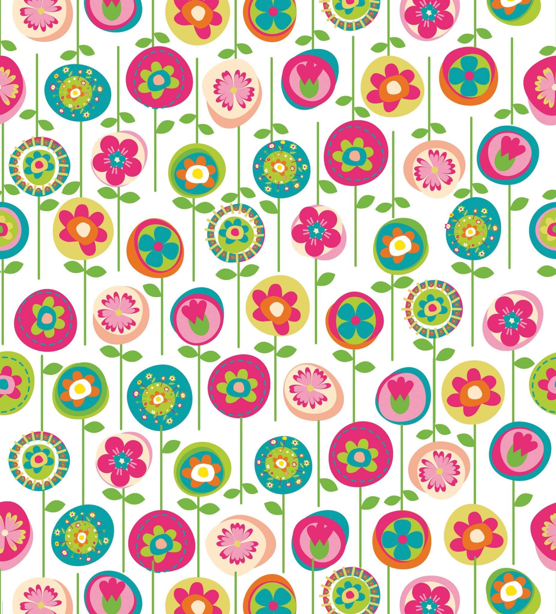 Papel mural infantil flores 9924-1 Muresco