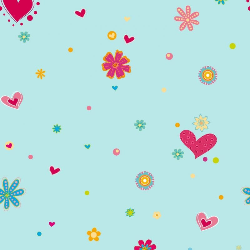 Papel mural infantil corazones 9925-3 Muresco