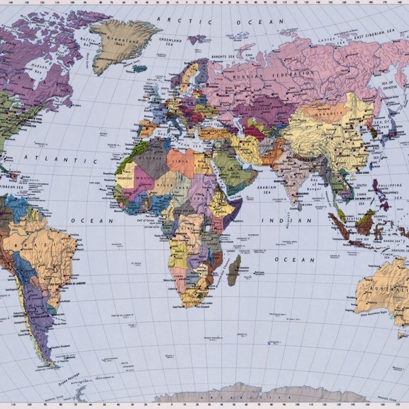 Fotomural Mapa mundi 4050 Komar