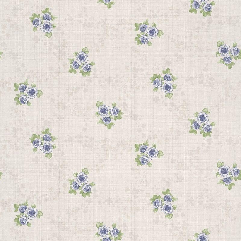Papel mural flores azules 450903 Rasch