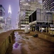 Ganz oben über den Straßen von New York City