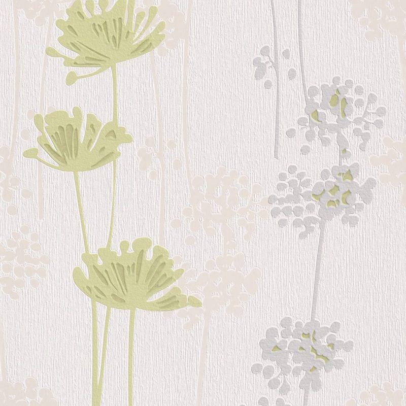 Papel mural flores verdes 863734 Rasch
