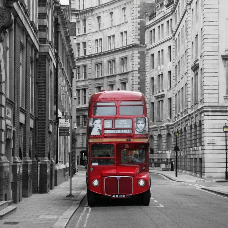 Fotomural Bus rojo Londres 97290