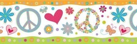 Guarda de papel infantil signo Paz 9991-1 Muresco