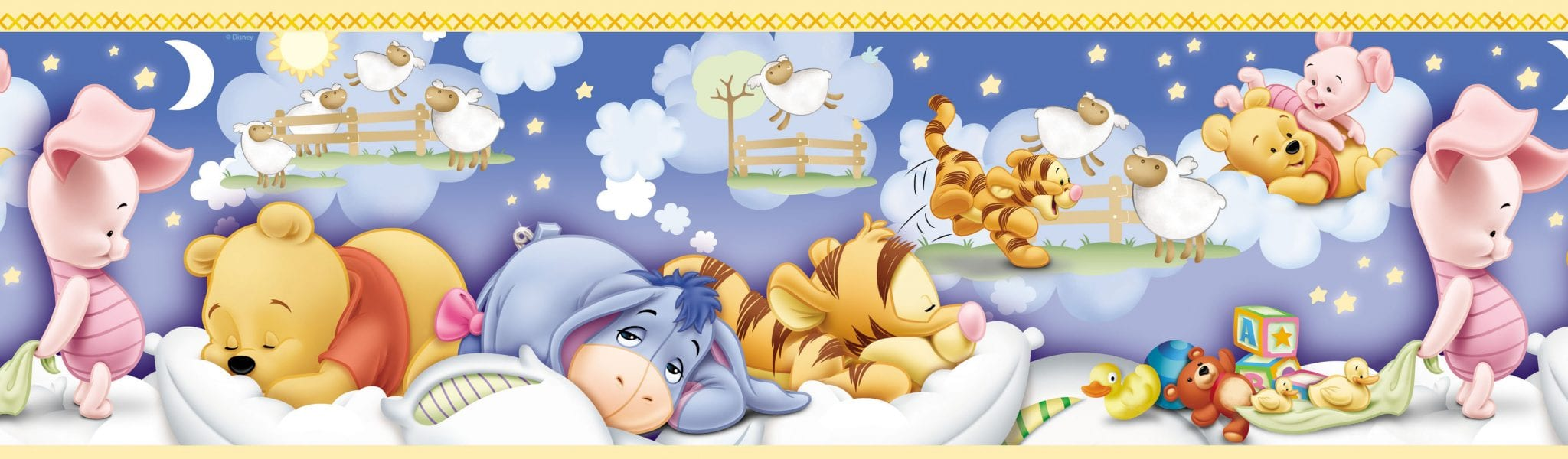 Guarda autoadhesiva Pooh baby DISNEY 1141-0 Decolife Muresco