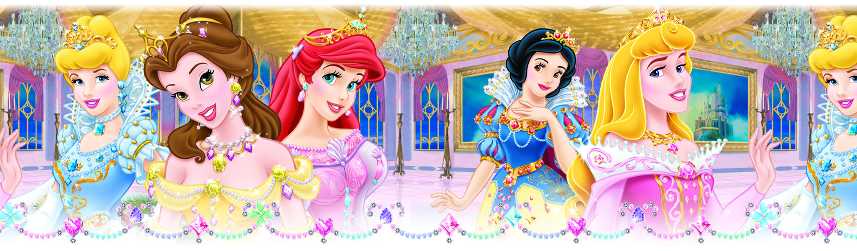 Guarda autoadhesiva Princesas DISNEY 1225-1 Decolife Muresco