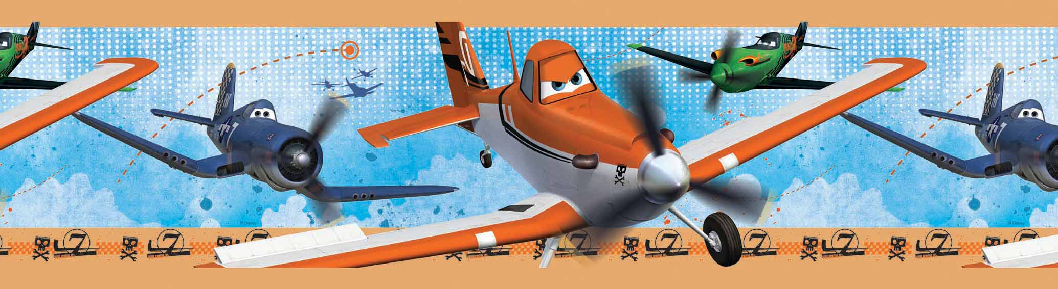 Guarda autoadhesiva aviones DISNEY 1269-1 Decolife Muresco