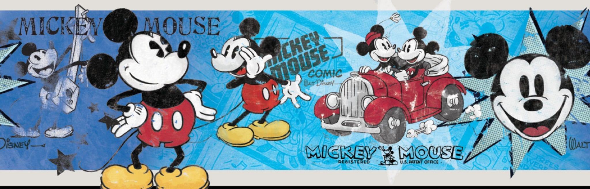 Guarda autoadhesiva Mickey retro DISNEY 1277-1 Decolife Muresco