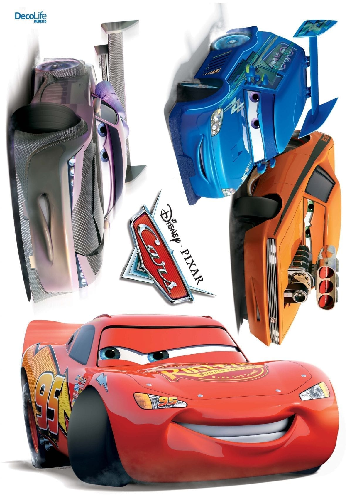 Wallsticker Cars DISNEY 1521-1 Decolife Muresco