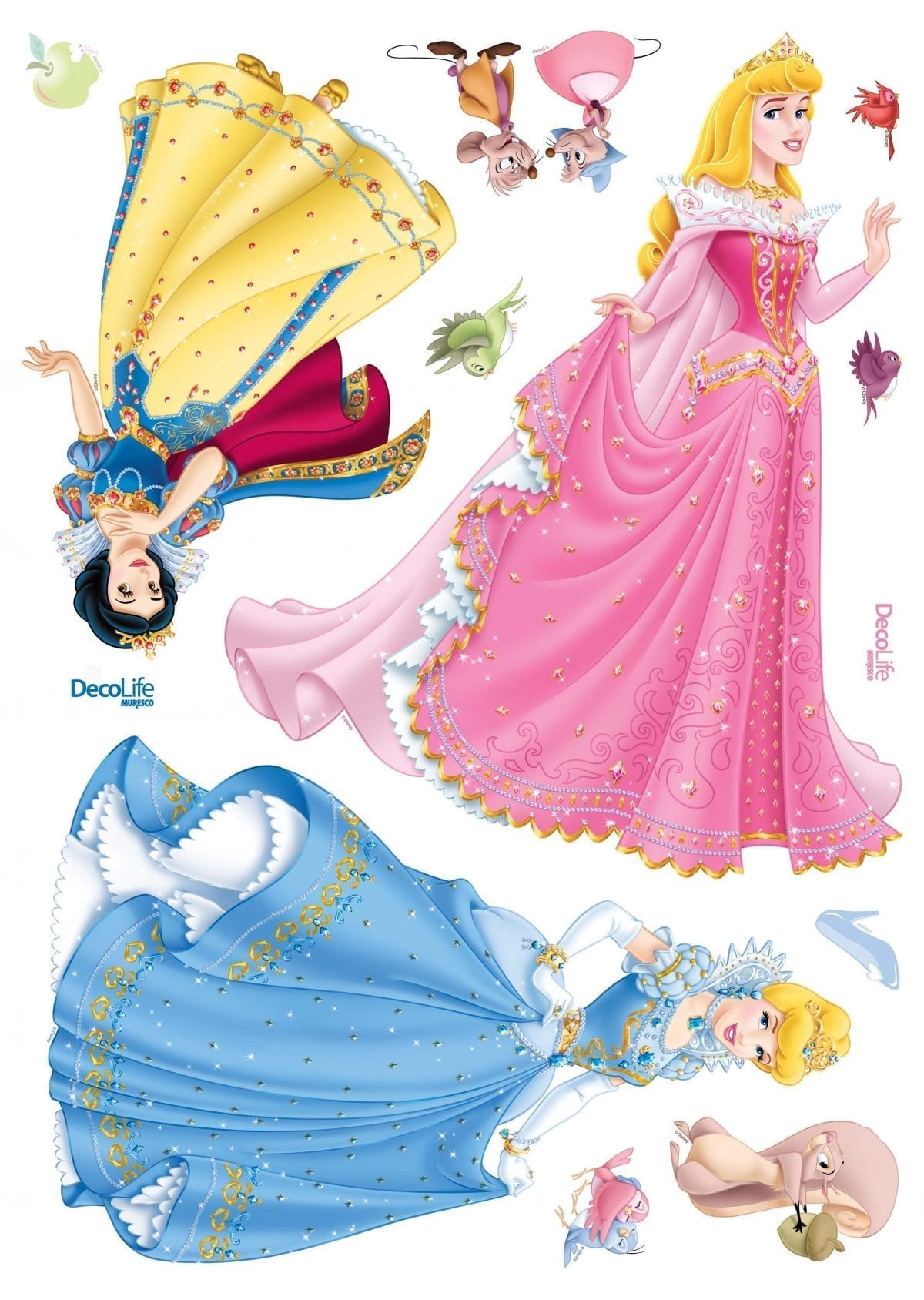 Wallsticker Princesas DISNEY 1522-1 Decolife Muresco