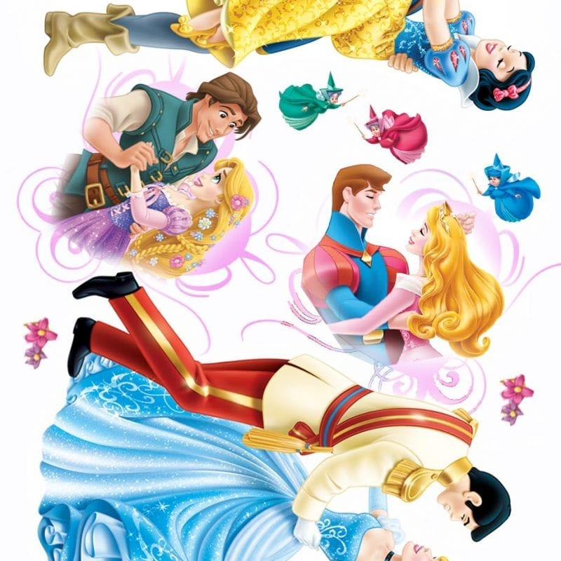 Wallsticker infantil Princesas y Príncipes DISNEY 1592-1 Decolife Muresco