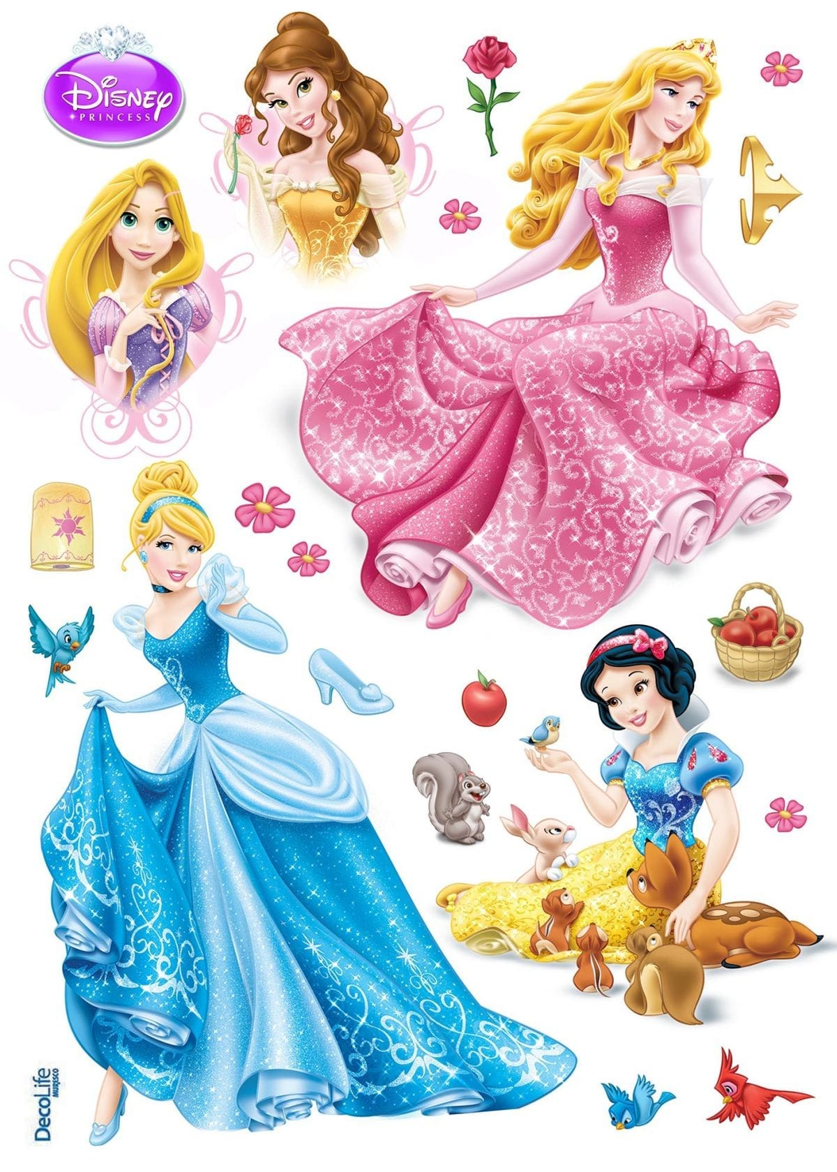 Wallsticker Princesas DISNEY 1596-1 Decolife Muresco