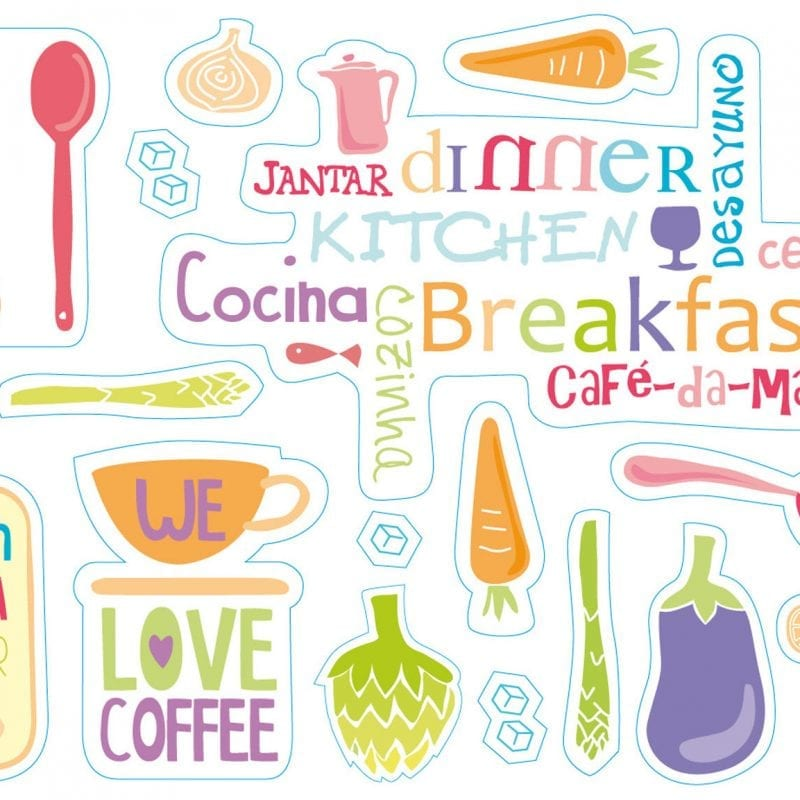 Wallsticker cocina 1605-1 Decolife Muresco