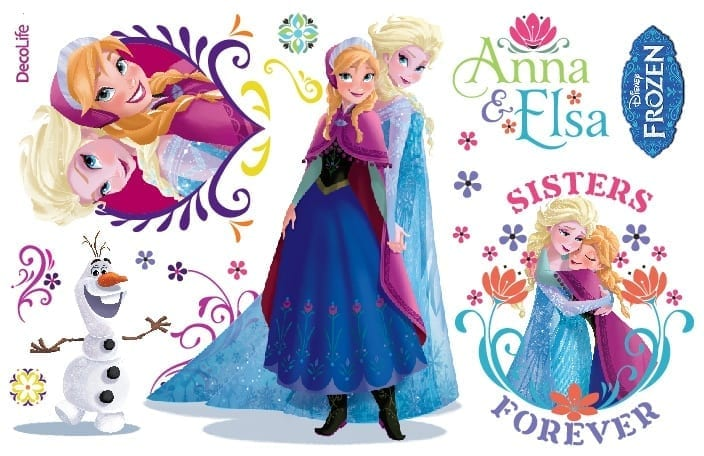 Wallsticker Frozen DISNEY 1609-1 Decolife Muresco