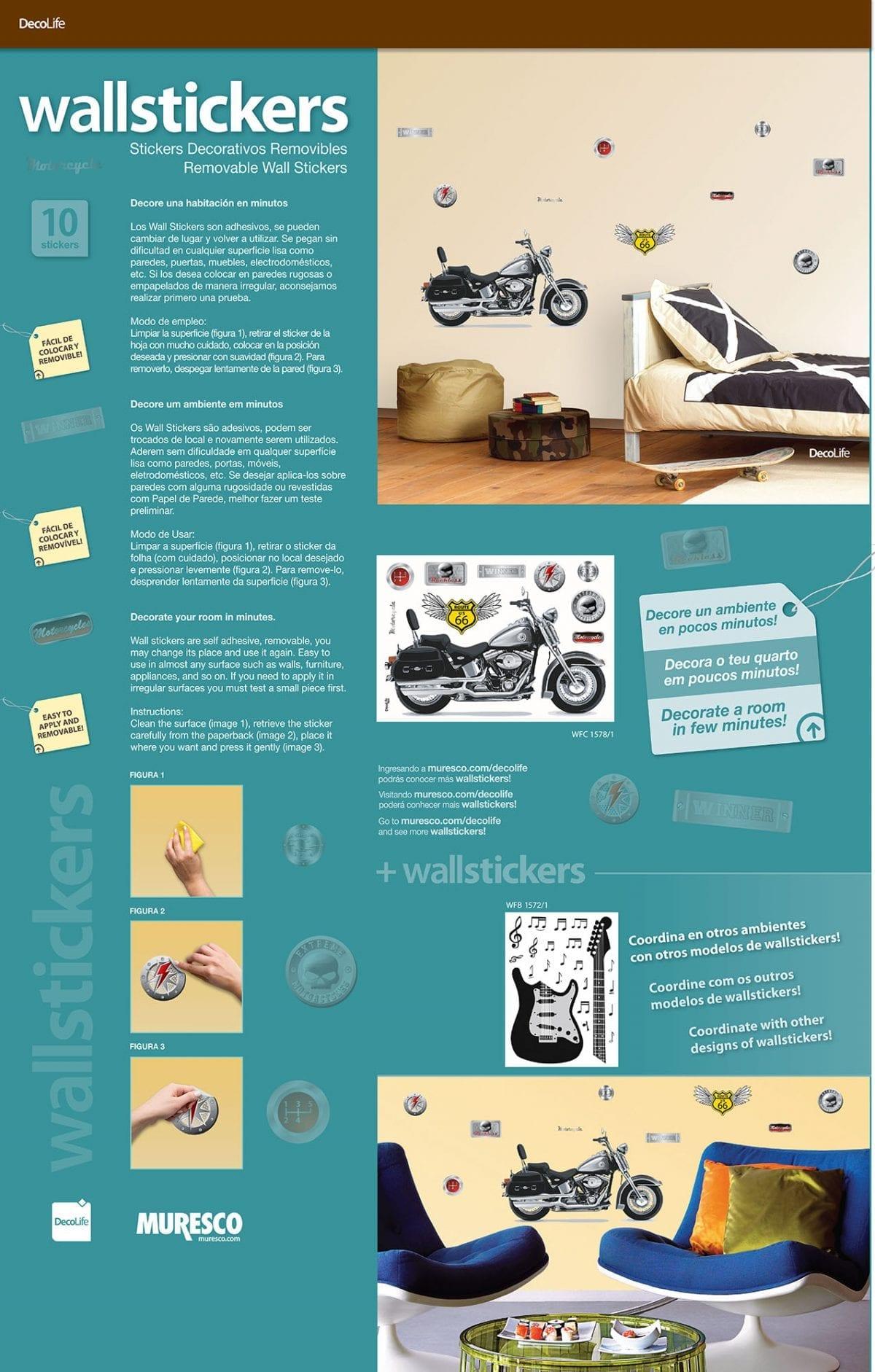 Wallsticker moto 1578-1