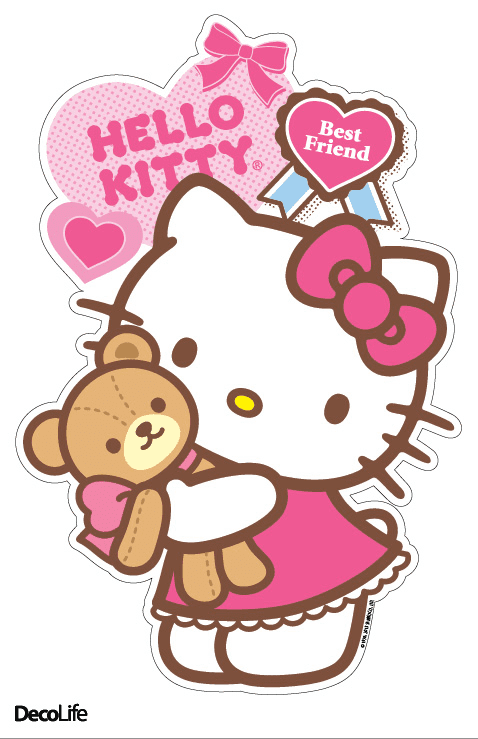 Wallsticker infantil Hello Kitty