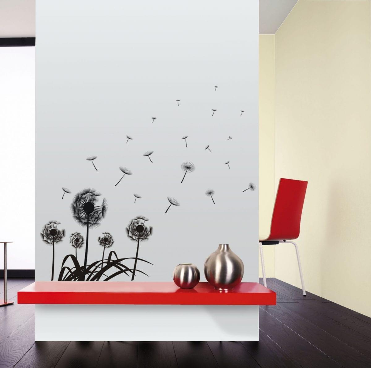 Wallsticker Flores negras 1573