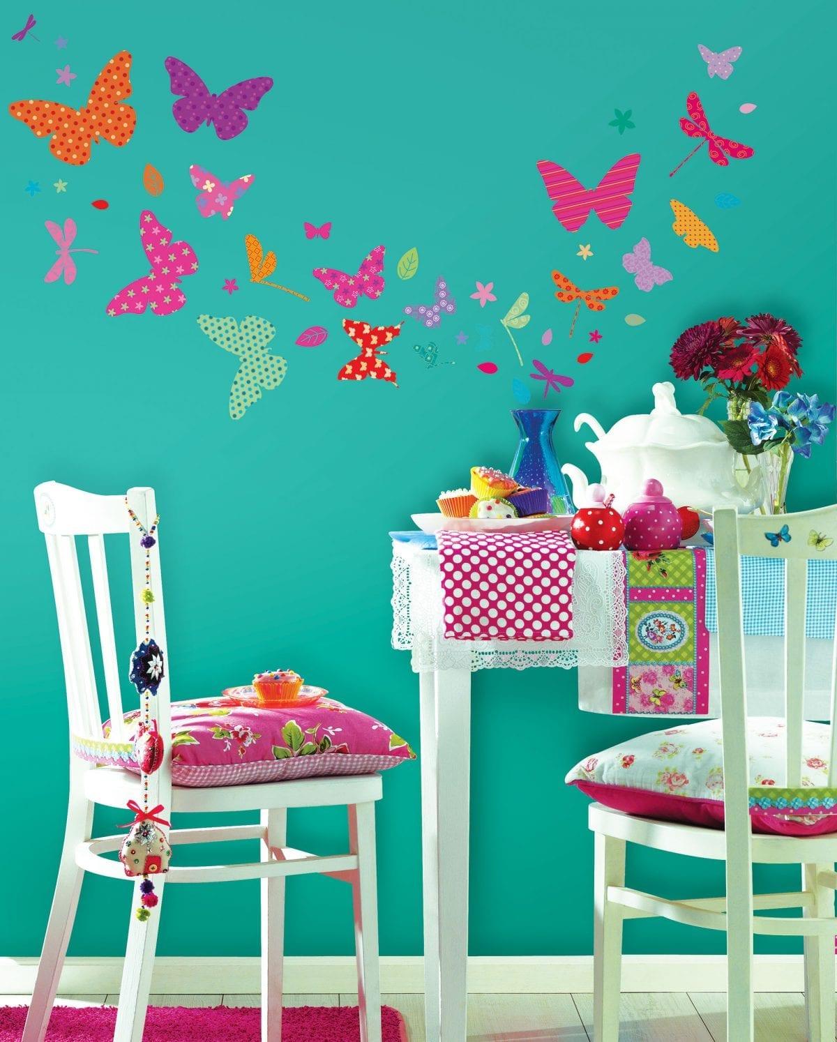 Wallsticker Mariposas de colores 1603