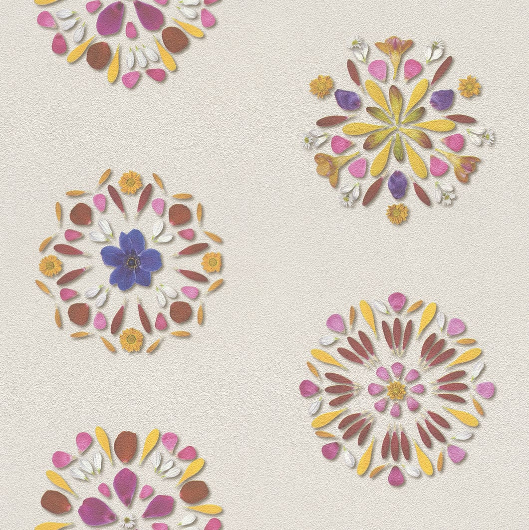 Papel mural petalos mandala 476101 Rasch