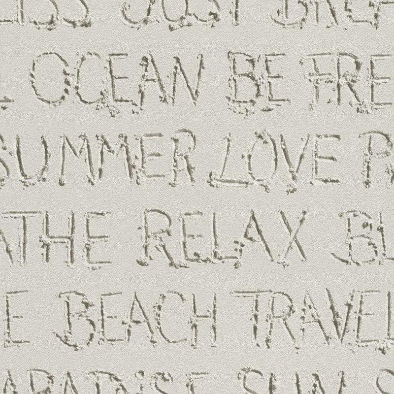 Papel mural letras en arena 476309 Rasch