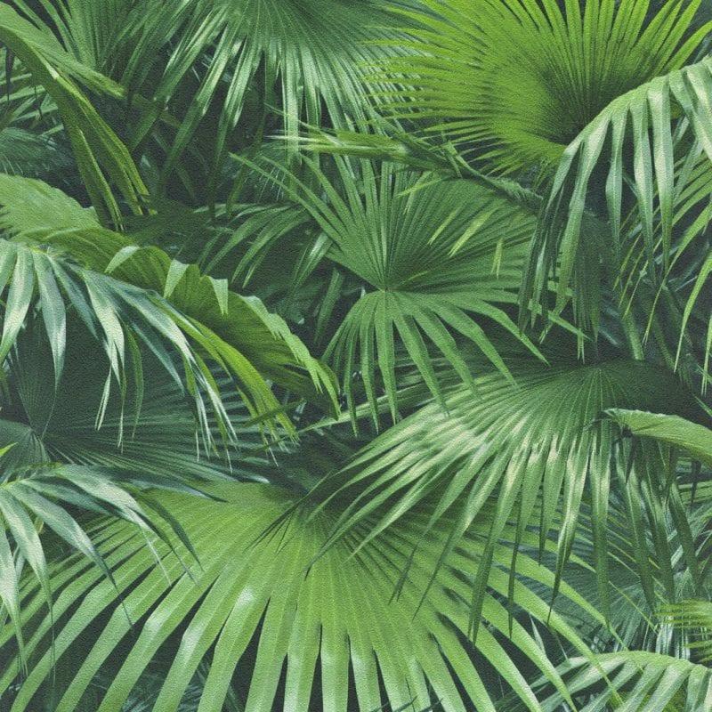 Papel mural hojas verdes 524901 Rasch
