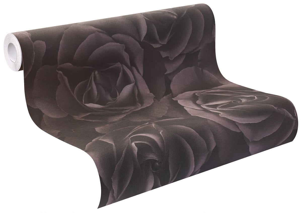 Papel mural rosas negras CRISPY PAPER 525618 Rasch