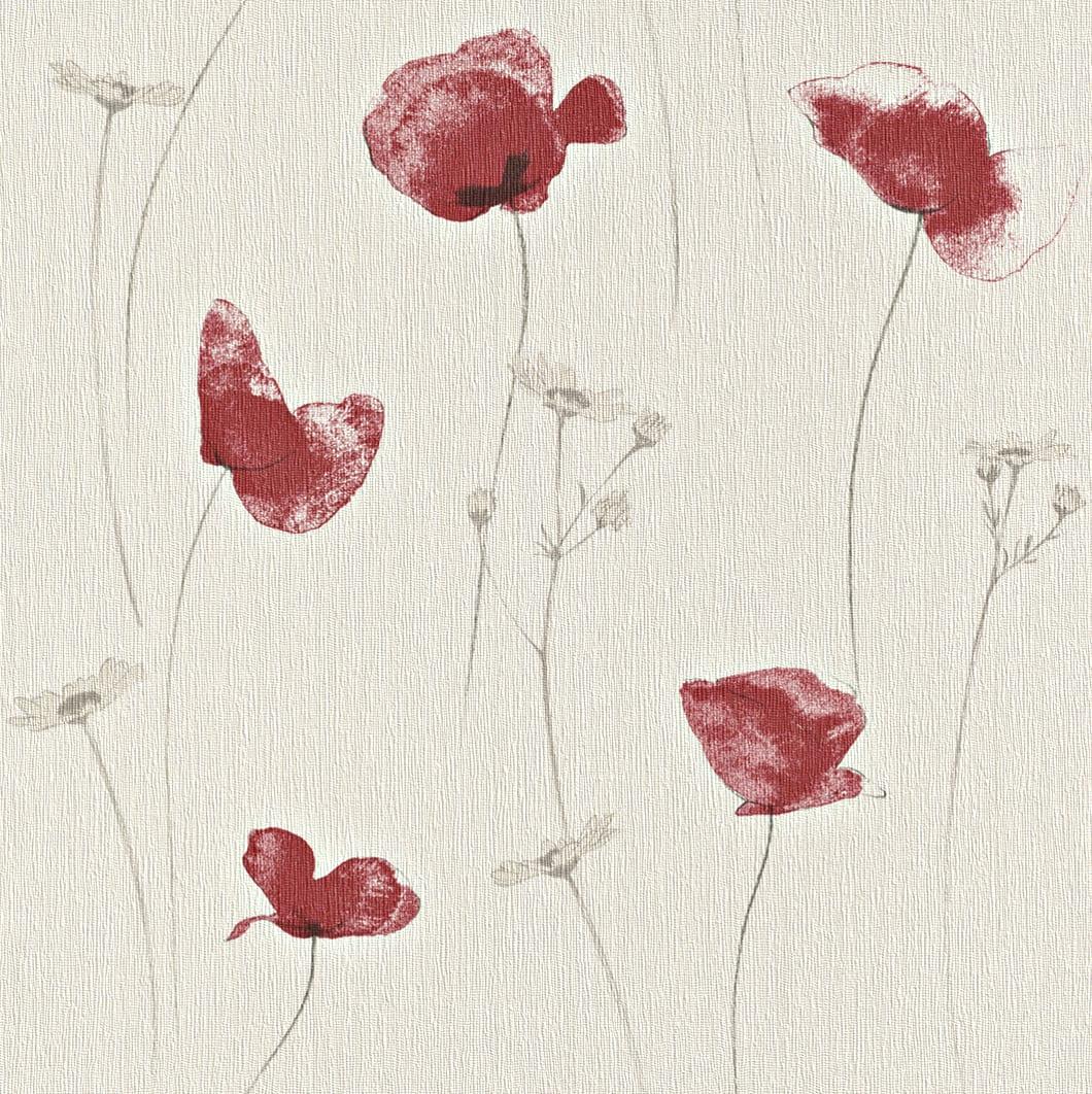 Papel mural flores rojas 573732 Rasch