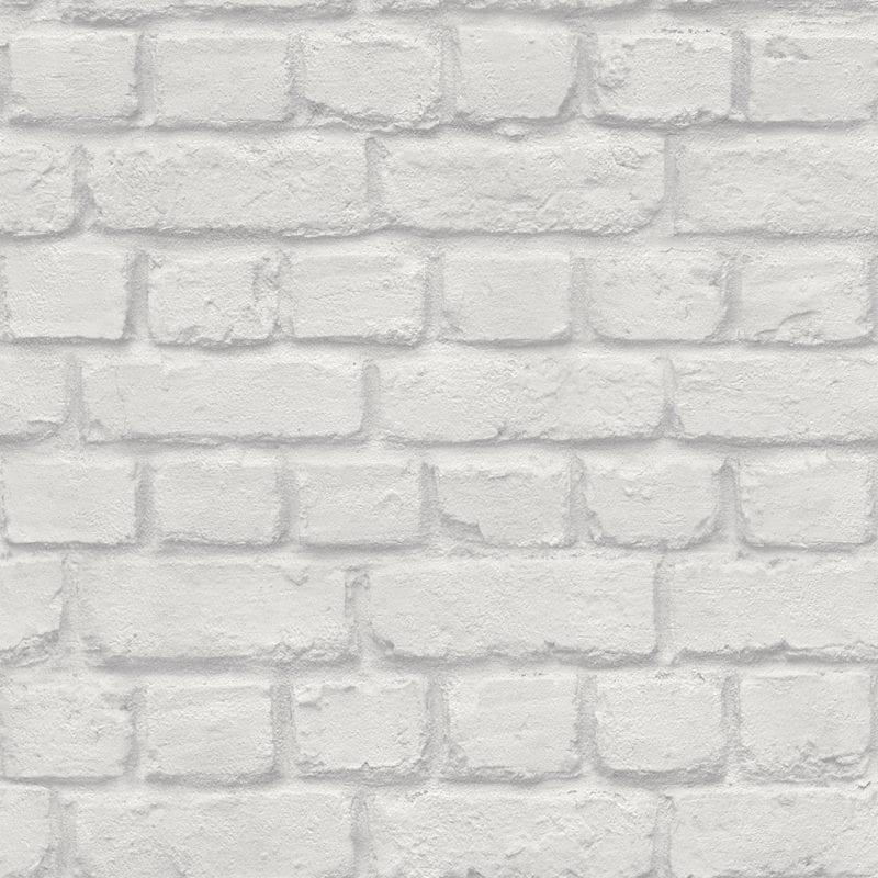 Papel mural ladrillo gris claro 226713