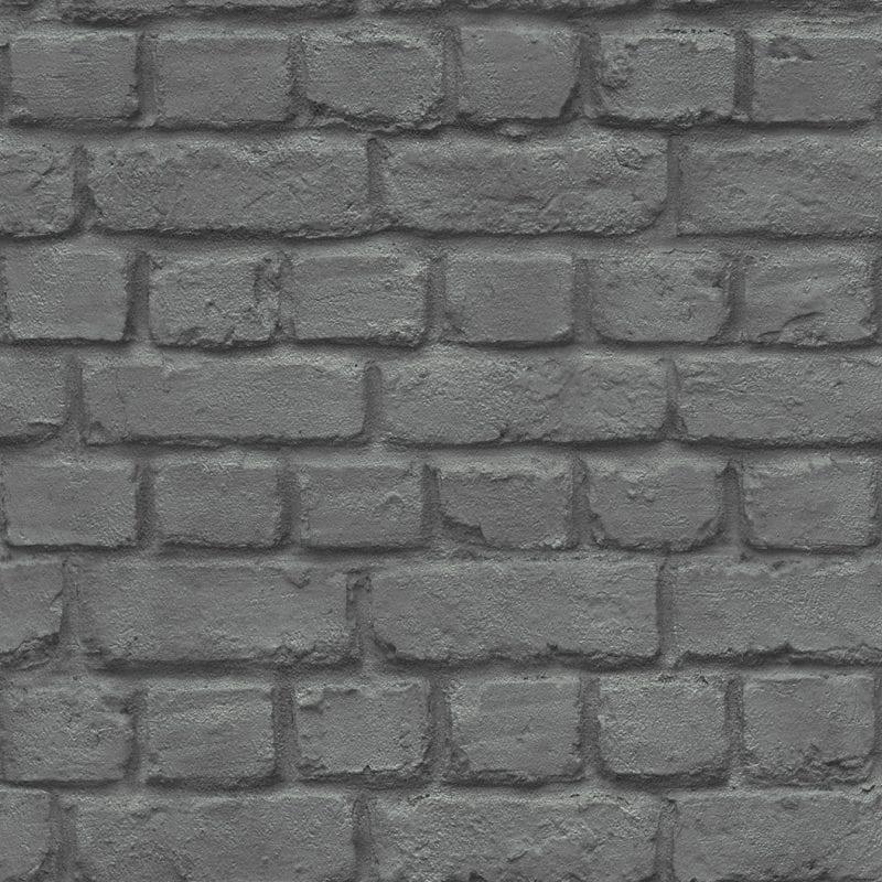 Papel mural ladrillos gris 226744