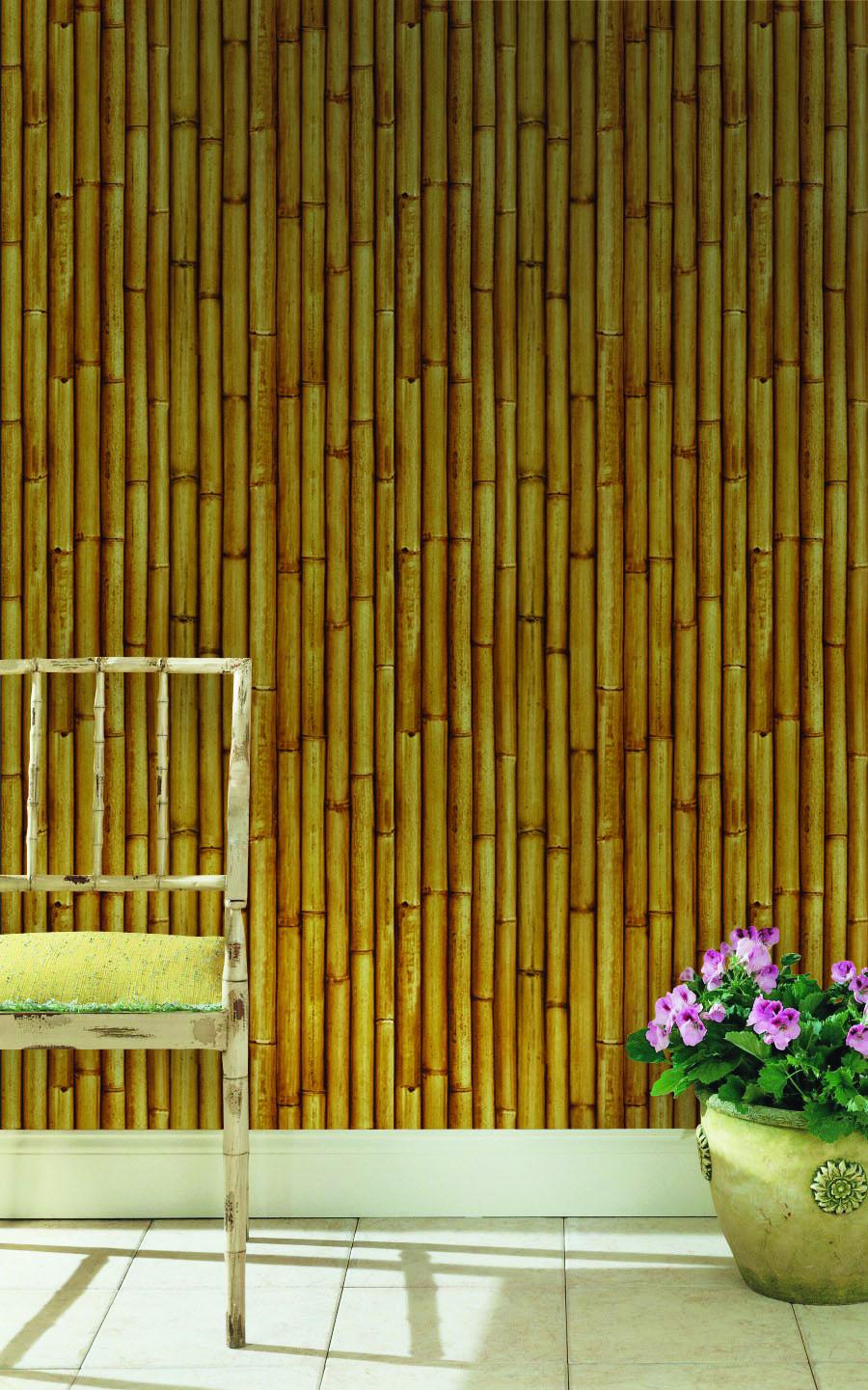 Papel mural Bambu natural 3476-2 Muresco
