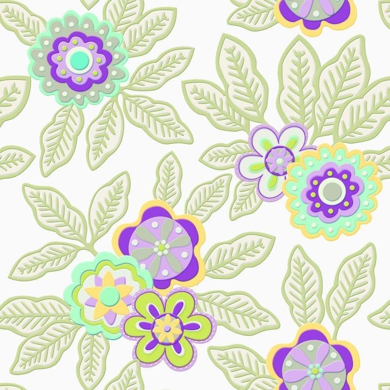 Papel mural Flores 3479-1 Muresco