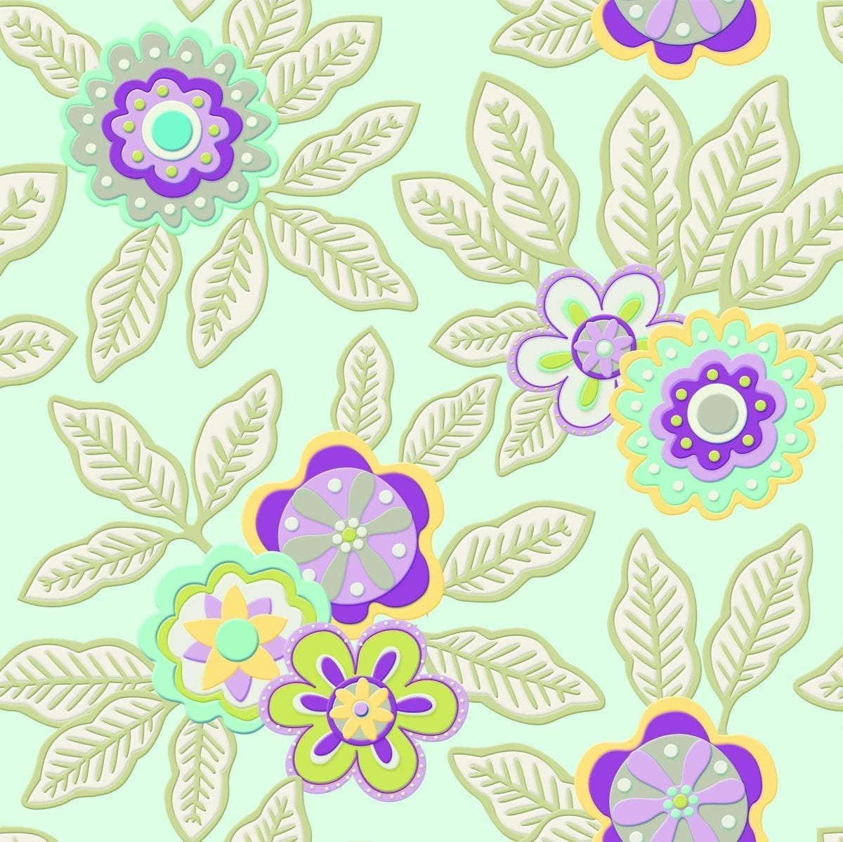 Papel mural Flores 3479-2 Muresco