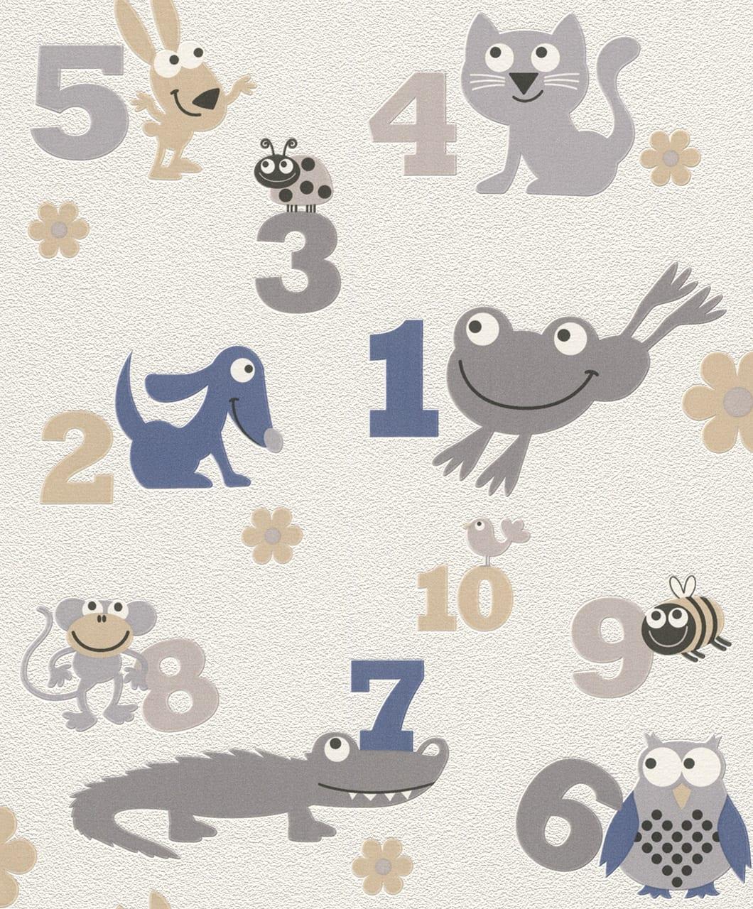 Papel mural numeros y animales 503043