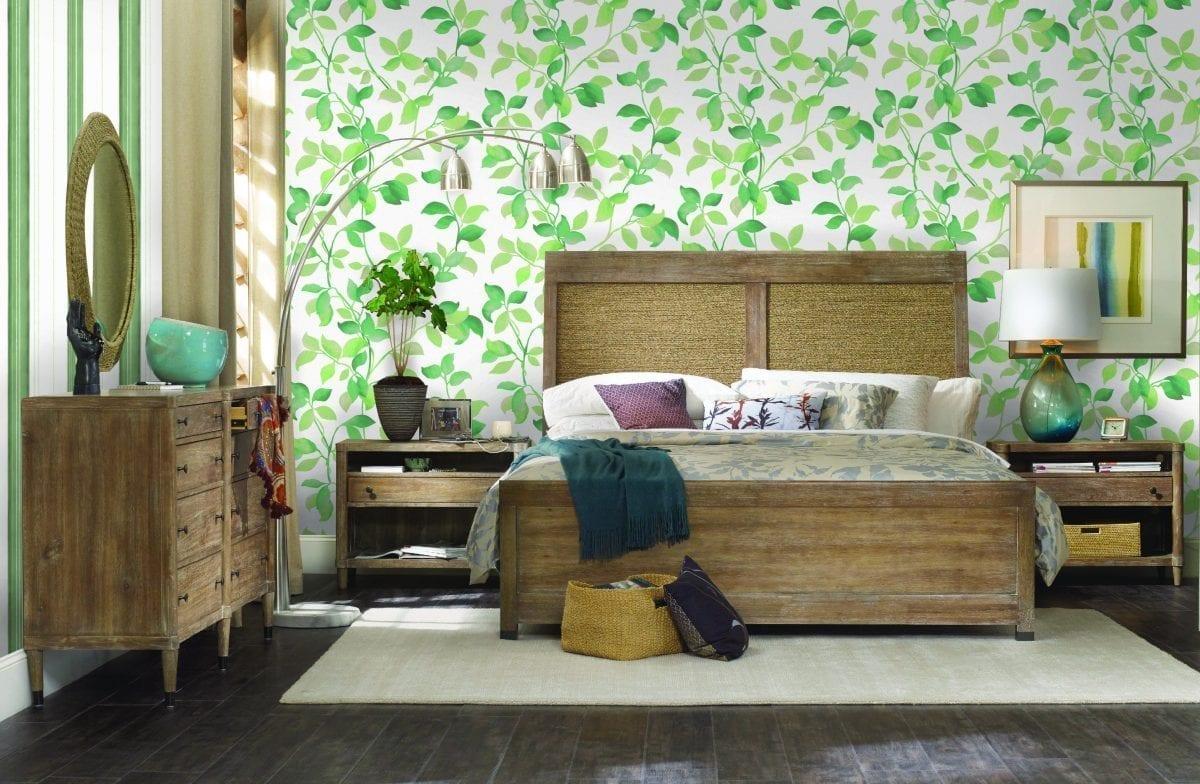 Papel mural hojas verdes 7301-1 Muresco