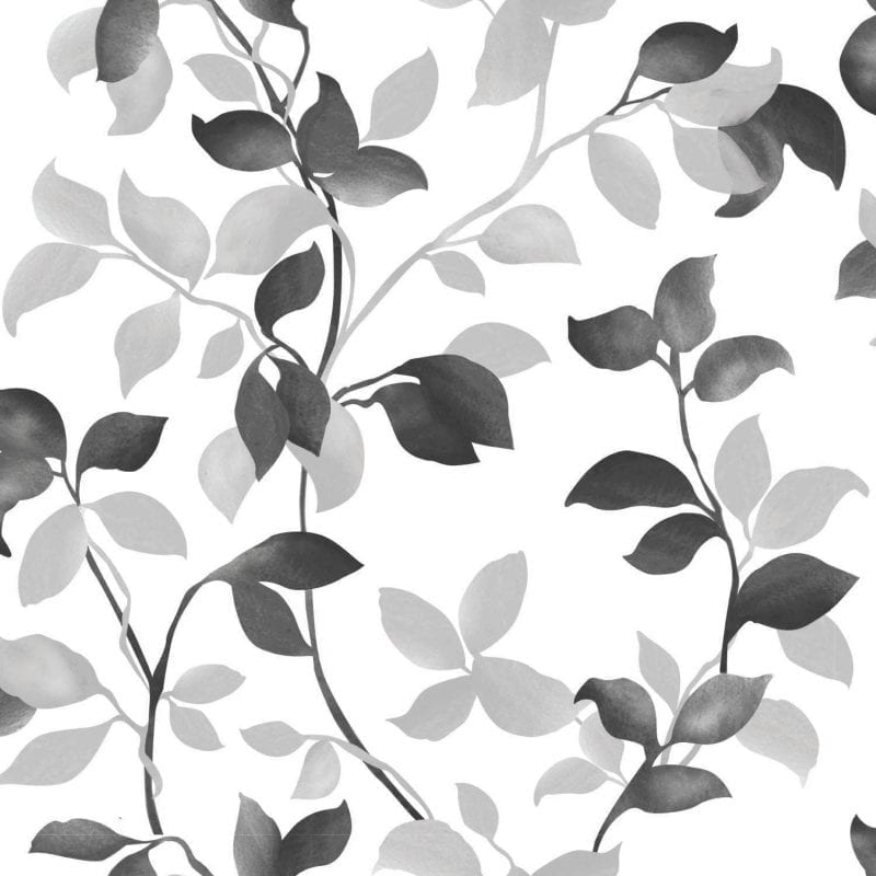 Papel mural hojas negras 7301-3