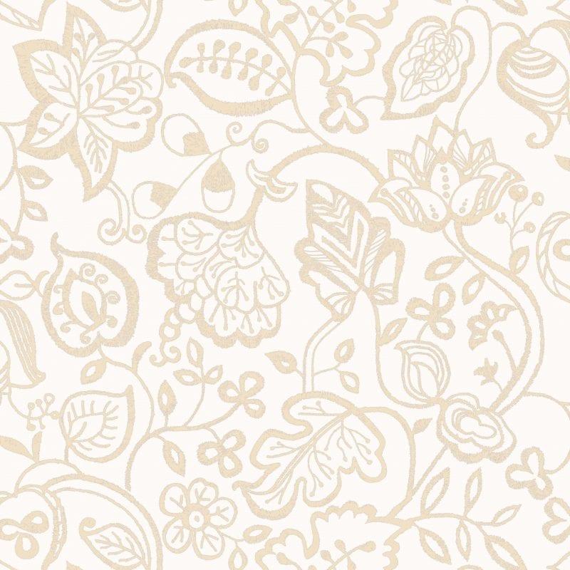 Papel mural flores beige 7308-2 Muresco