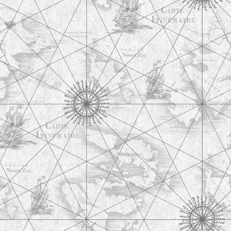 Papel mural cartografía 7310-1 Muresco