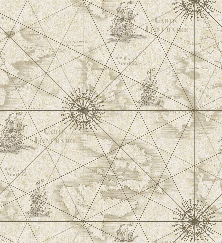Papel mural Cartografía 7310-2 Muresco