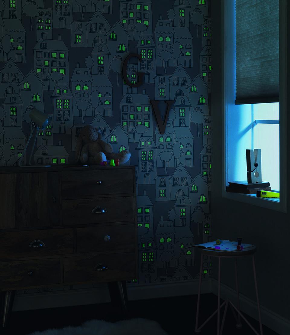 Papel mural brilla en la oscuridad 503449