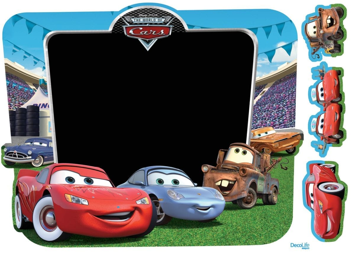 Wallsticker pizarra Cars DISNEY 1562-1