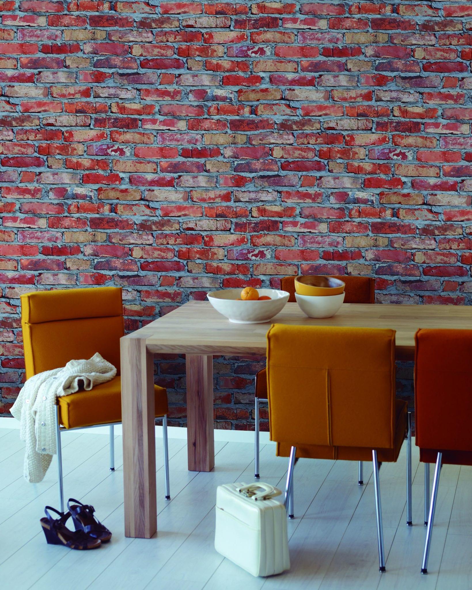 Papel mural vinilizado zen ladrillo 3475 1 cinthiasa for Papel mural autoadhesivo santiago