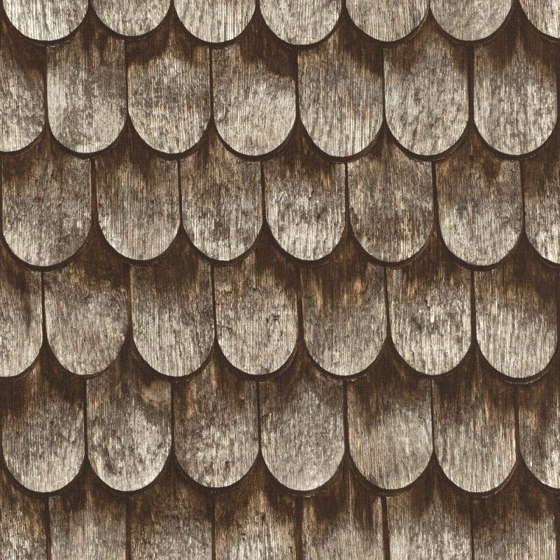 Papel mural tejas madera 860702 - Rasch