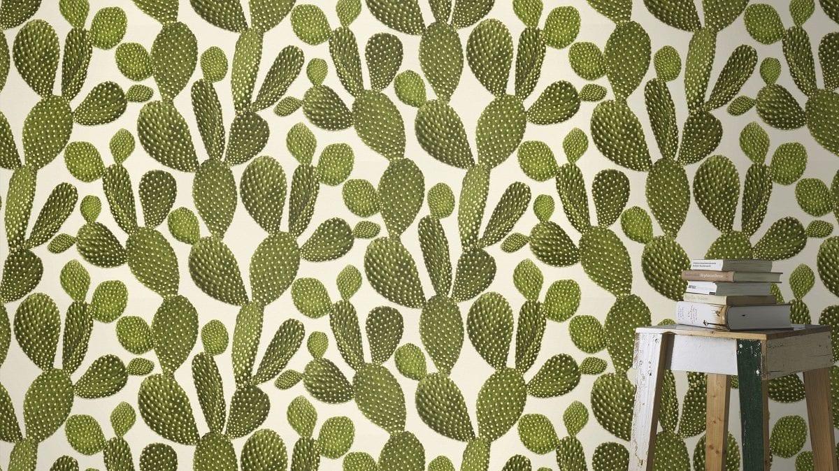 Papel mural cactus 441000 - Rasch
