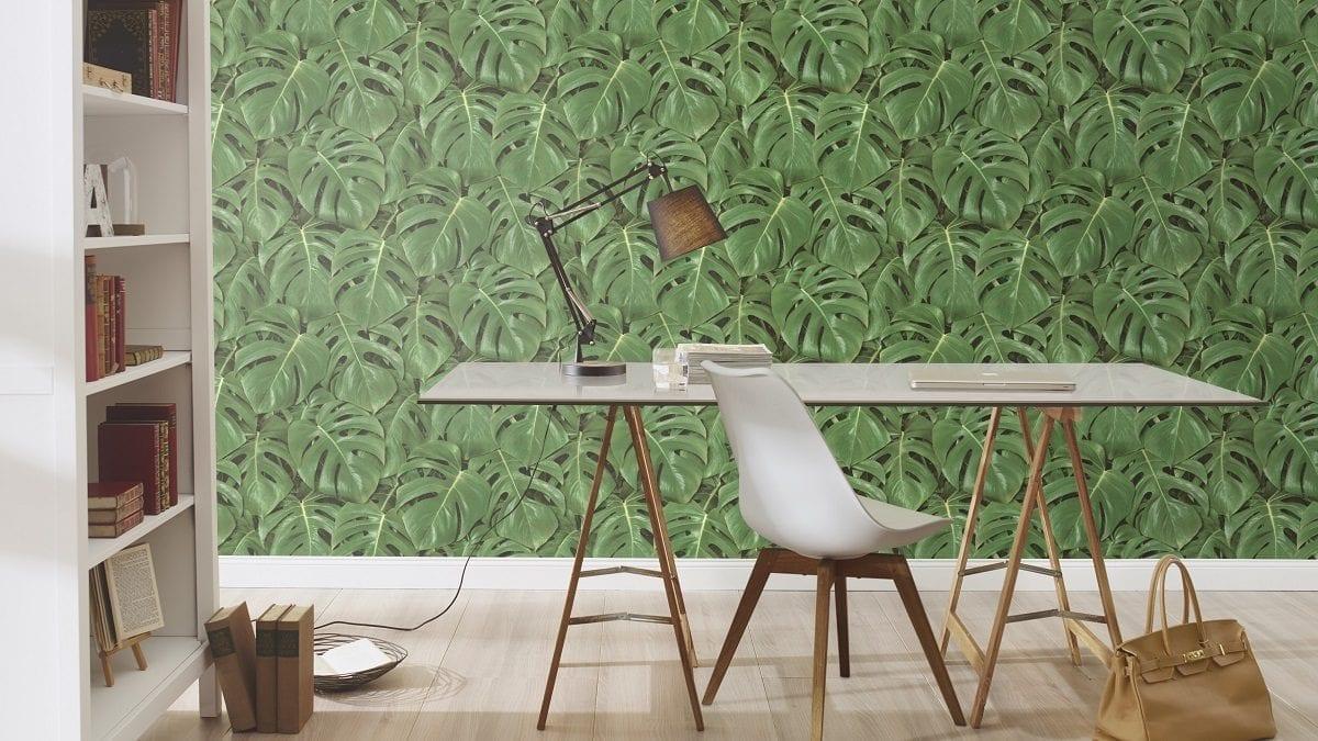 Papel mural hojas monstera 441802 Rasch
