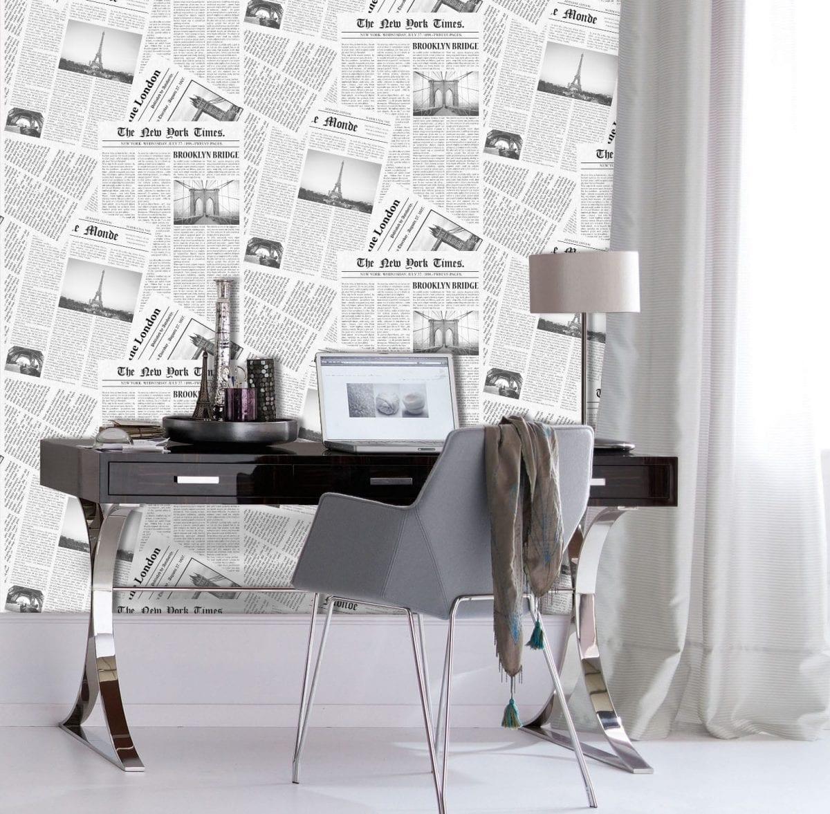 papel mural diarios 3713-1 Muresco