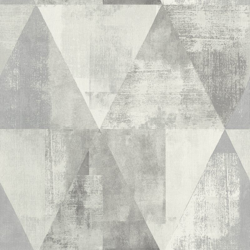 Papel mural triángulos gris HYDE PARK 410945 RASCH